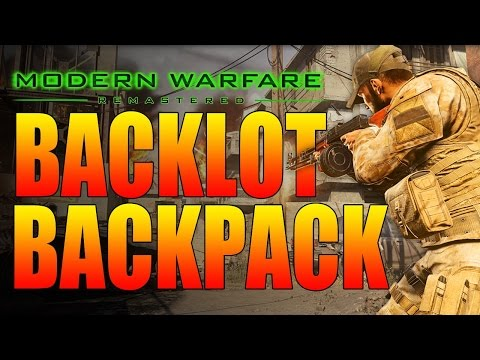 Call Of Duty Modern Warfare Remastered - Backpacking On Backlot! (COD4 Remastered MP5 Gameplay)