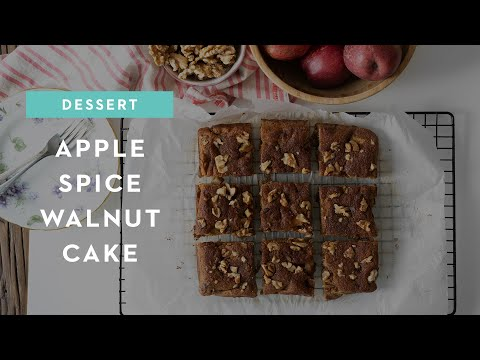 Apple Spice Walnut Cake (Gluten-free, Dairy-free, Grain-free)