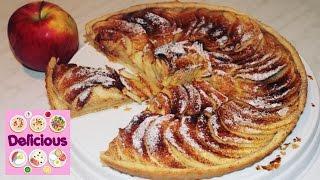 Homemade Apple Tart Recipe - How to make apple tart - French easy apple tart - Delicious