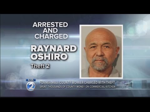Theft charges filed against former Maui county employee