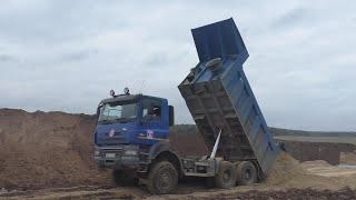 Tatra Phoenix 6x6 working in the mud part 2