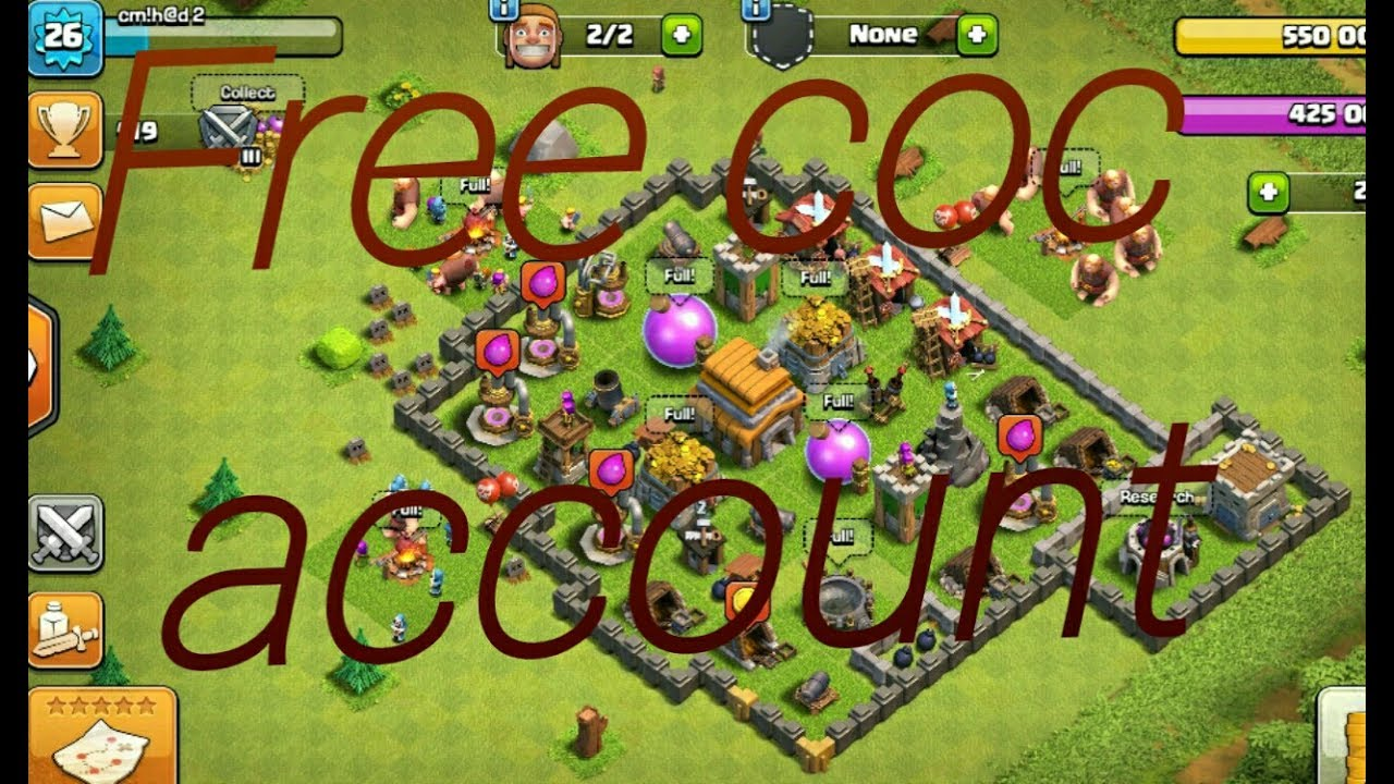 Free Clash Of Clans Account Giveaway Th5 Gold Storage Elixir Storage Full Youtube