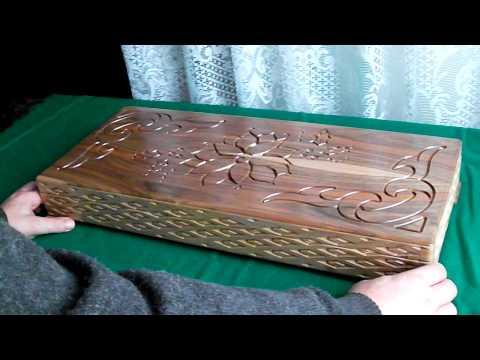 Wooden box with hidden lock