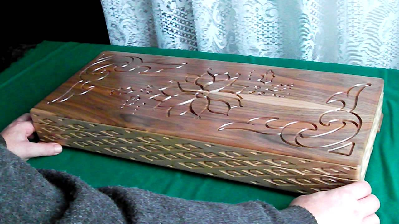 Wooden Box With Hidden Lock