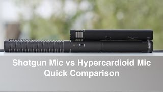 Shotgun vs Hypercardioid Microphone Quick Comparison: RODE NTG-2 vs AT4053b