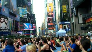 Solstice in Times Square - Mind Over Madness Yoga