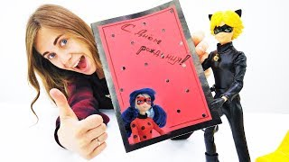 Супер-Кот делает открытку с Леди Баг. Видео для детей