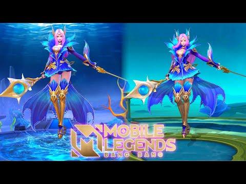 Odette Mermaid Princess Revamped VS OLD Skin Effects MLBB