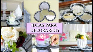 2 DECORACIONES EN 1 DIY I IDEAS PARA DECORAR LA CASA I ESPEJO DECORATIVO I Yahimi Rodriguez