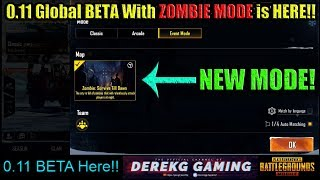 PUBG Mobile 0.11 Global BETA With ZOMBIE MODE (Resident Evil 2 Collab) Released!! Download NOW!