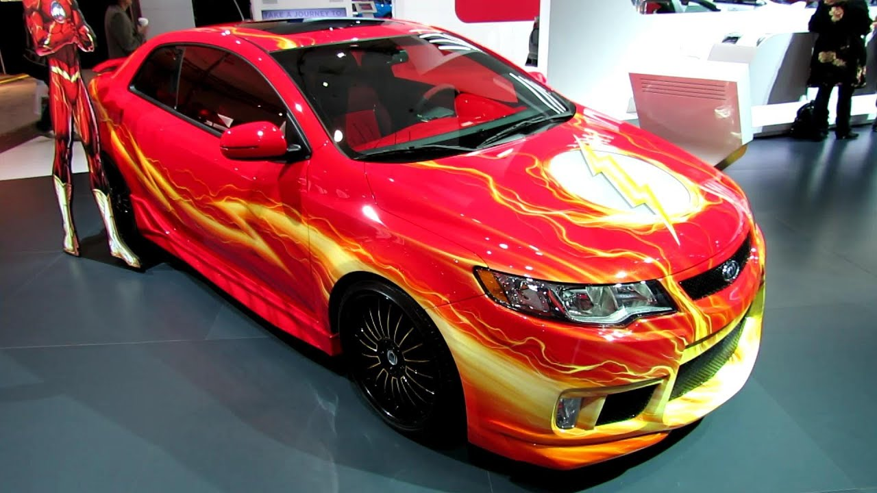 2012 Kia Forte Coupe Custom We Can Be Heroes Exterior 2012 Los Angeles Auto Show Youtube