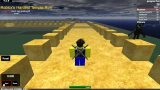 Roblox's Hardest-Temple Run - Ep 1 (Song is Hot Chelle Rae - Don't Say Goodnight)