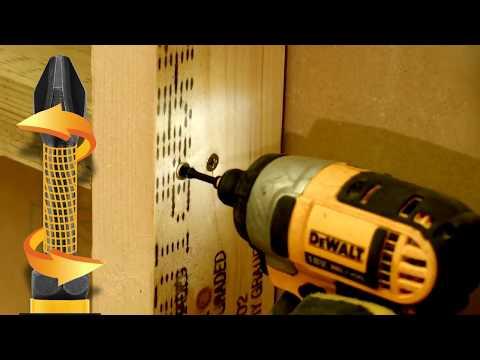 Ударные биты DeWALT с торсионным хвостовиком и система крепления шурупа 10X Magnetic Screw Lock