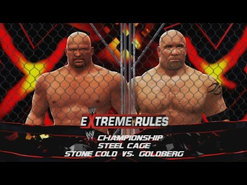 WWE 2K14: Stone Cold Steve Austin vs Goldberg - Extreme Rules (Custom Promo and Championship Match)