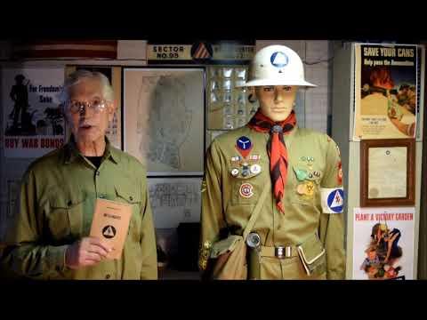 WWII CIVILIAN DEFENSE BOY SCOUT MESSENGER
