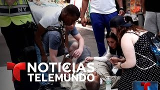 Auto embiste a grupo de personas en Time Square | Noticiero | Noticias Telemundo
