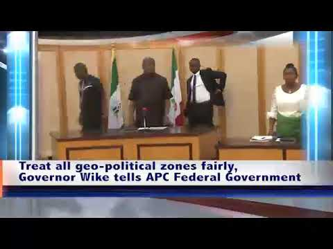 Treat all geo-political zones fairly, Governor Wike tells APC Federal Government