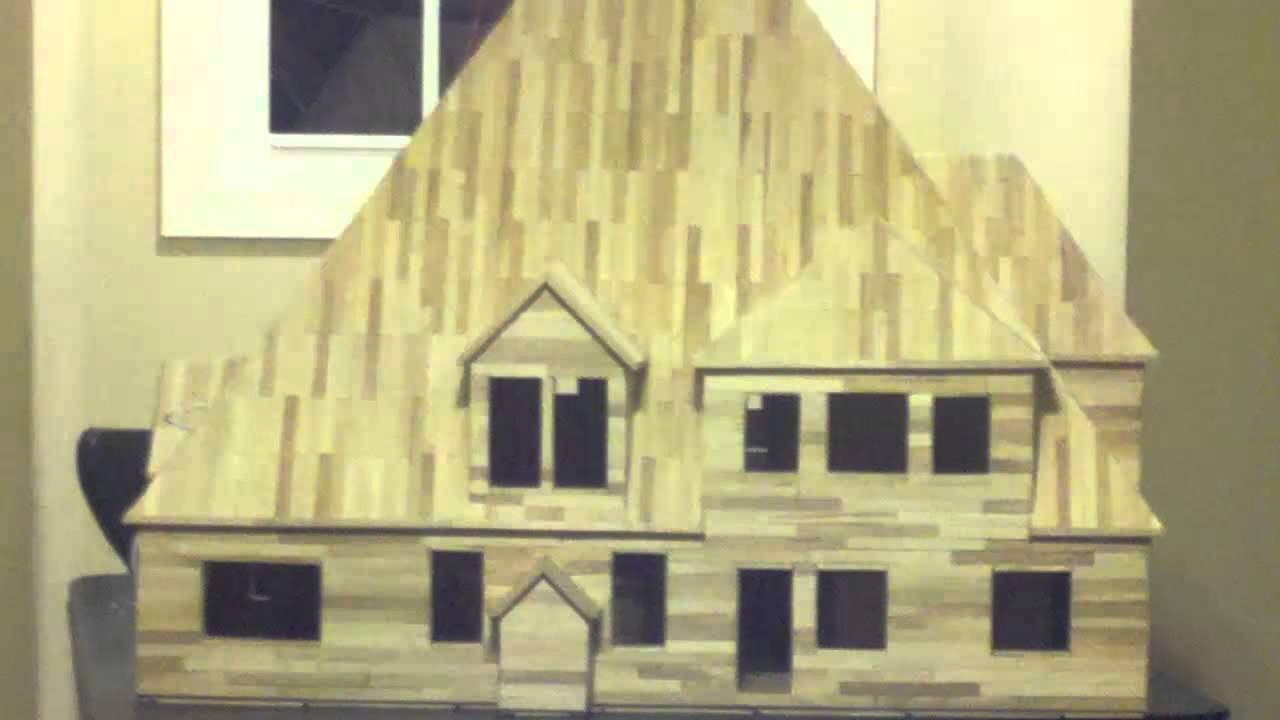 25 - building popsicle stick house - youtube