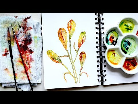 Lilly Seed Capsules | Watercolour Tutorial