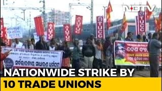 Bharat Bandh: Trade Unions Go On 2-Day Strike