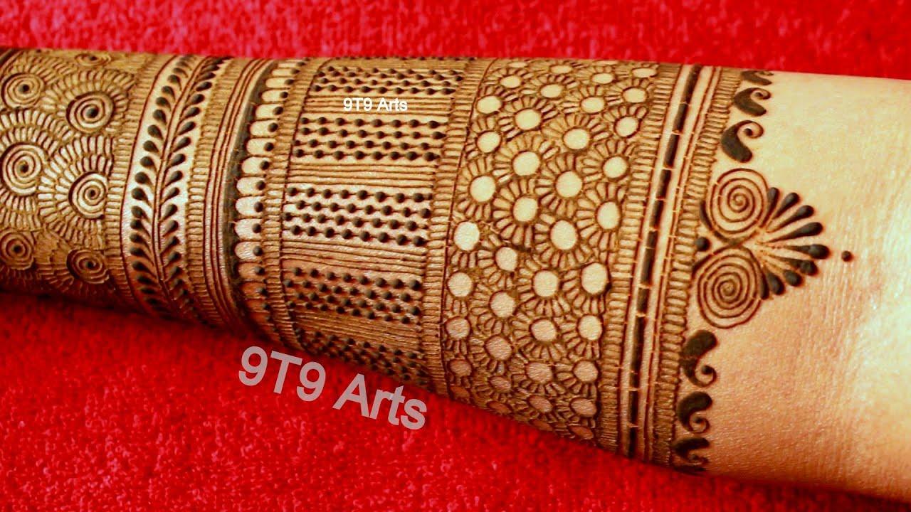 Karva Chauth Special Easy Full Hand Mehndi Designs   Bridal Henna Mehndi Design   New Dulhan Mehendi