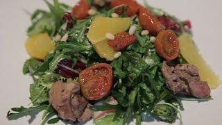 Зеленый салат с медовым соусом «Винегрет».