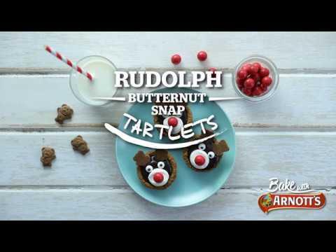 Bake With Arnott S Rudolph Butternut Snap Tartlets Youtube