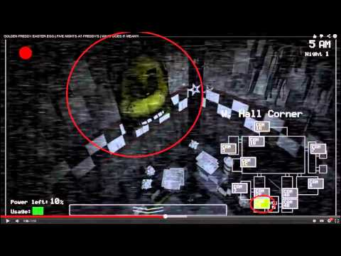 Golden freddy 5 nights at freddy 180 s easter egg loquendo hd