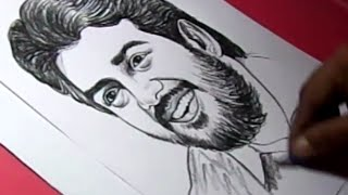 How to Draw Tamil Film Actor AJITH KUMAR Drawing