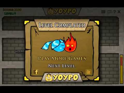 Игра Огонь и Вода 4 в Хрустальном Храме онлайн Fireboy
