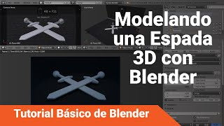 Blender 3D 2.7: Tutorial Básico - Modelando una espada 3D