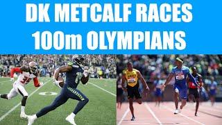 DK Metcalf Races 100m Olympians At Mt SAC Relays