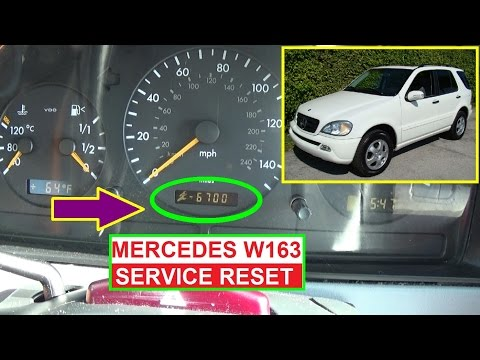 mercedes ml350 oil change and service light reset diy by