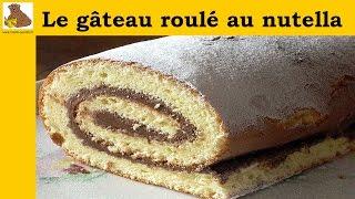 Le gâteau roulé au nutella (recette facile) HD