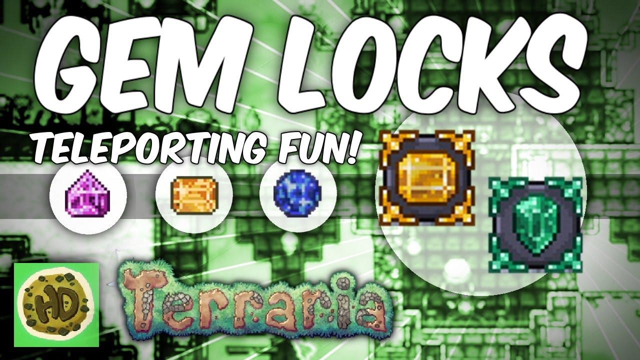 Terraria 1 3 1 Gem Locks Secret Doors Amp Teleporting Fun
