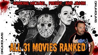 #31on31 DRUMDRUMS RANKS MICHAEL, FREDDY, AND JASON    31 MOVIES!