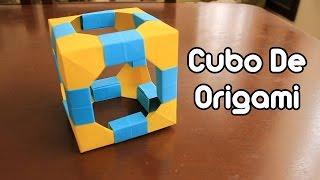 Origami Cube / Cubo De Origami TUTORIAL!