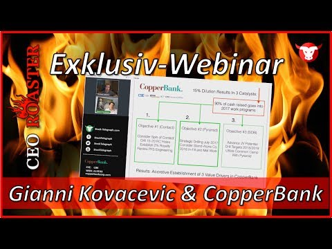 CopperBank Resources Corp.: CEO-Roaster Webinar mit Gianni Kovasevic (CSE: CBK)