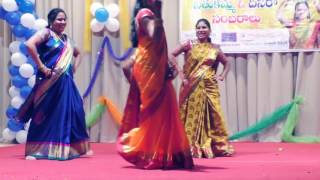 Narmadha, Srujana And Sushma    Group Dance At Bathukamma&dasara Celebrations