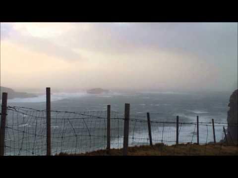 Stormy weather in Faroes.wmv