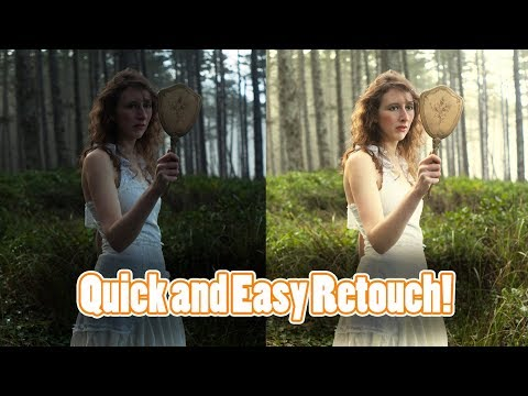 A Quick Easy Portrait Edit in Adobe Photoshop Tutorials CC Creative Cloud How To Retouch Make Up