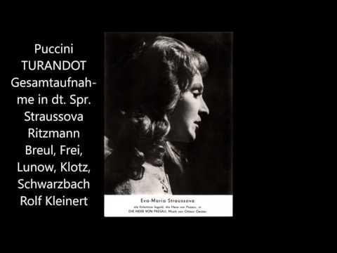 Puccini: Turandot (deutsch, Straussova, Ritzmann, Breul, Kleinert)