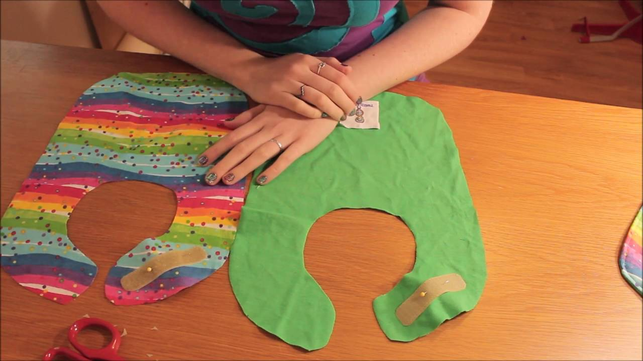 How to Sew / Make a Baby Bib | FREE Pattern Easy Beginners Sewing ...