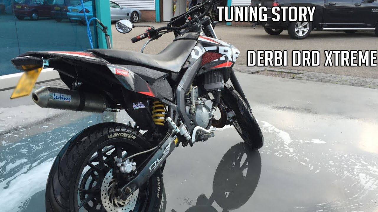 derbi drd xtreme 50 tuning story youtube. Black Bedroom Furniture Sets. Home Design Ideas