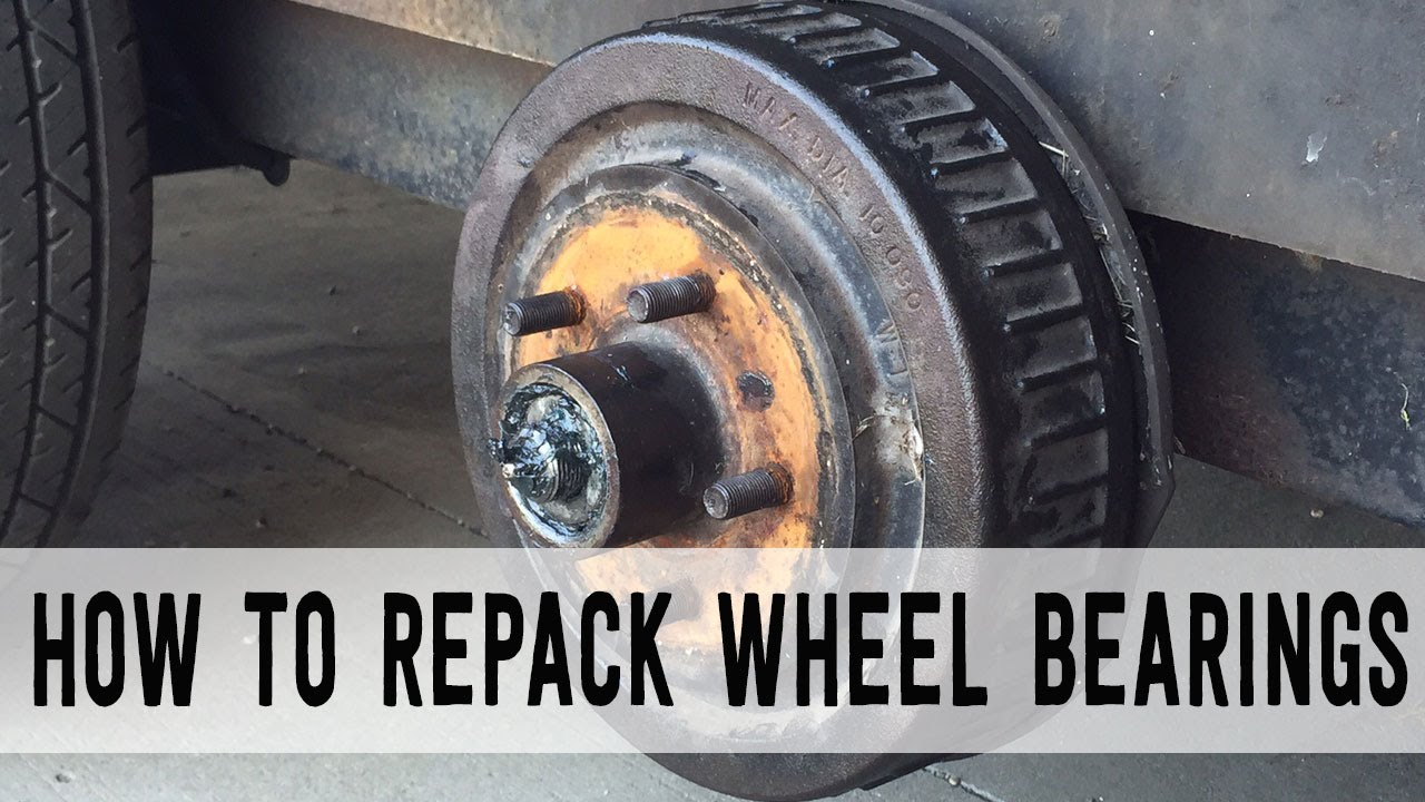 how to repack trailer wheel bearings start to finish