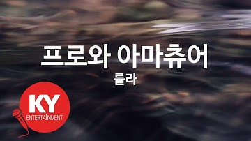 [KY ENTERTAINMENT] 프로와 아마츄어 - 룰라 (KY.3738) / KY Karaoke