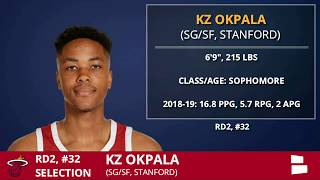 KZ Okpala Picked By The Miami Heat With Pick 32 In 2nd Round of 2019 NBA Draft - Grade amp Analysis