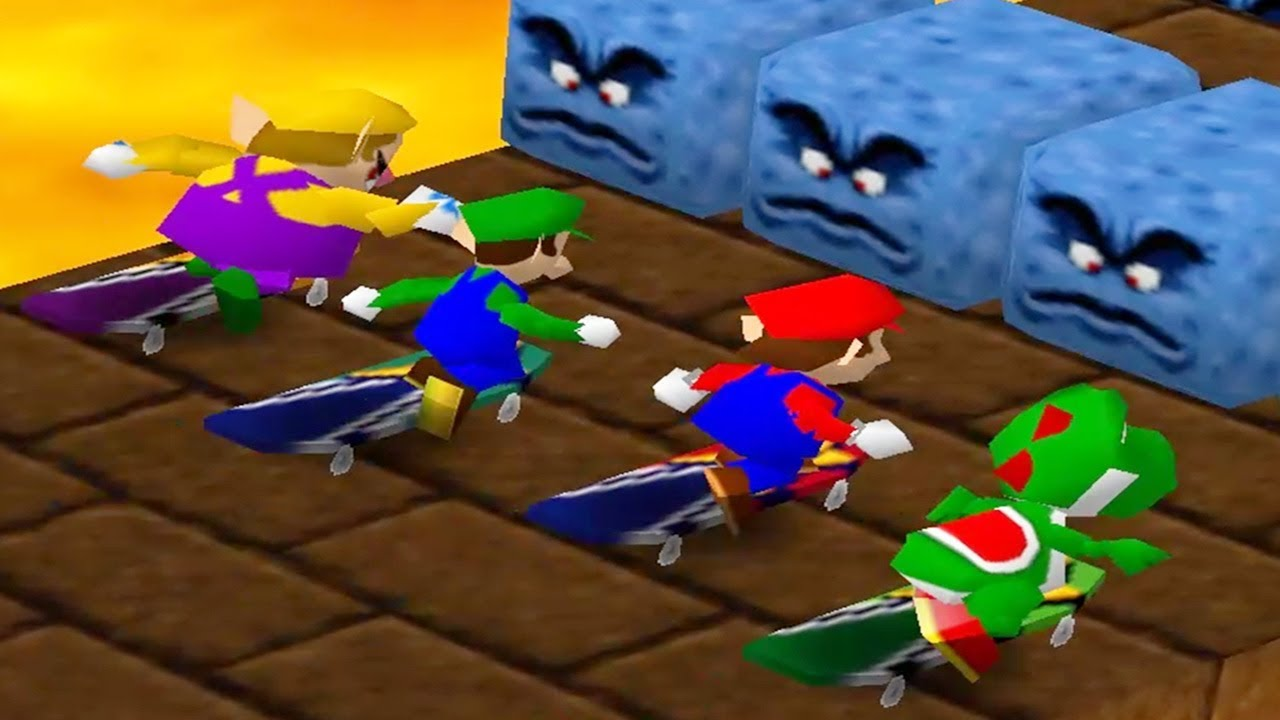 30 66 MB] Mario Party - 4 Player Free-For-All Funny
