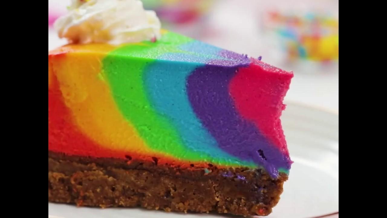 Rainbow Zebra Cheesecake