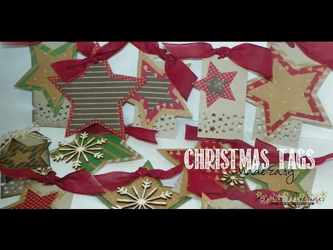 Stampin' Up Christmas Star Gift Tags!